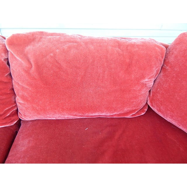 Baker Furniture Co. Red Crushed Velvet Sofa - Image 3 of 8