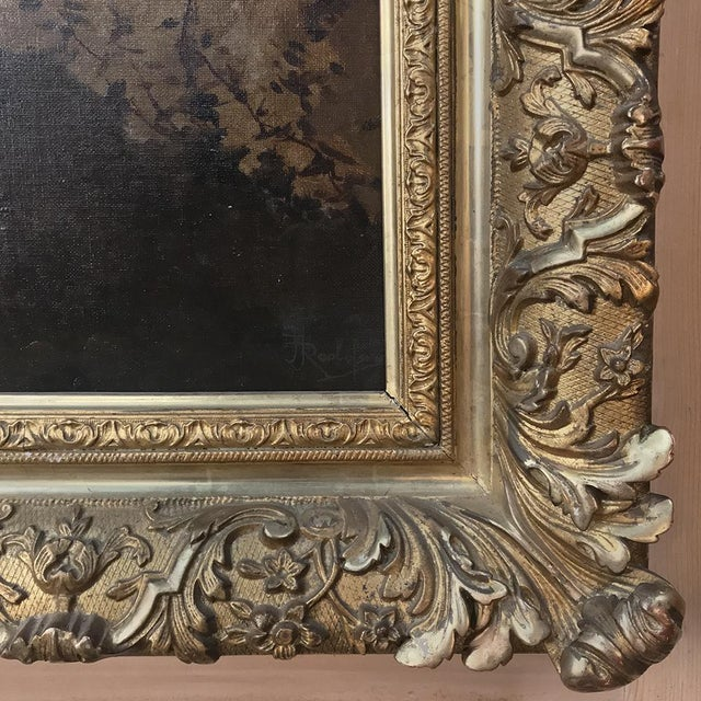Antique Framed Oil Painting on Canvas by Roelofs For Sale - Image 11 of 13