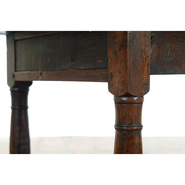 Early 18th Century 18th C. Antique English Farmhouse Table For Sale - Image 5 of 8
