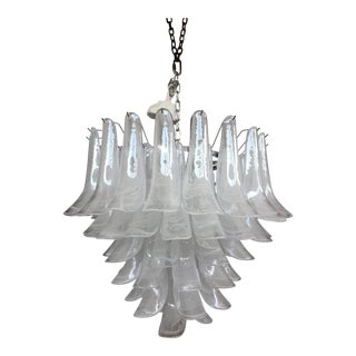 """Selle Alabastro"" Mazzega Style Chandelier Murano Glass For Sale"