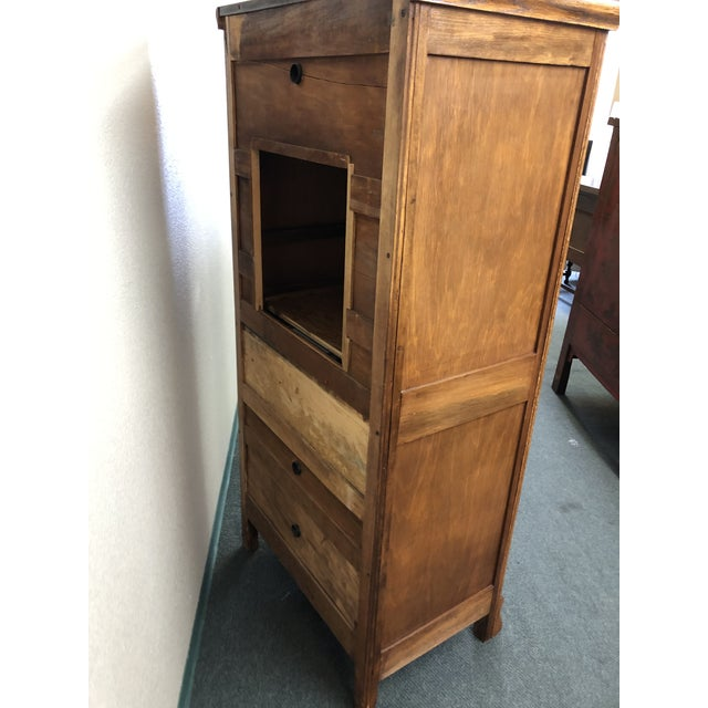 Tan Converted Oak Armoire For Sale - Image 8 of 12