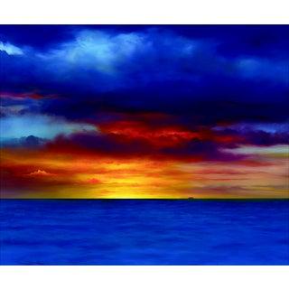 """Kona Sunset"" Contemporary Giclee Print by Dario Campanile For Sale"
