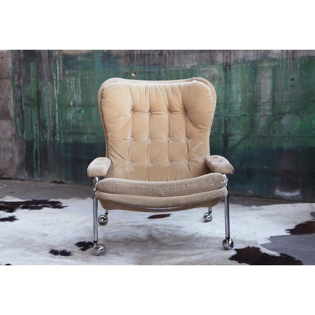 Rare Mid Century Vintage Swedish Lounge Chair by Scapa Rydaholm, 1970s For Sale In Madison - Image 6 of 10