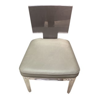 Modern Acrylic Side Chair For Sale