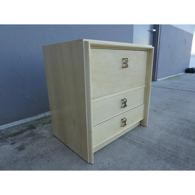 Art Deco 1950s Mid-Century Modern Johnson Furniture Paul Frankl Nightstand For Sale - Image 3 of 11