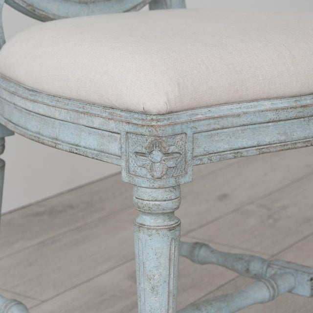 Gray Rosa Gustavian Dining Chair For Sale - Image 8 of 11