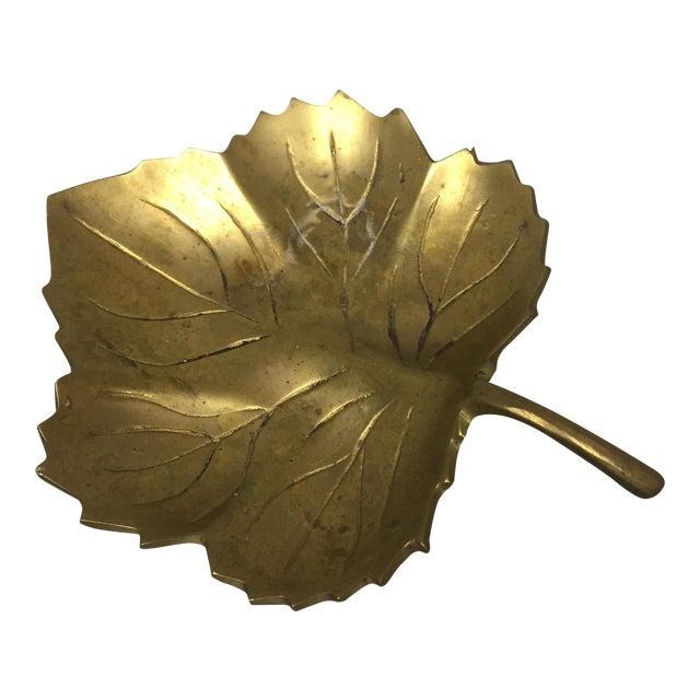Decorative Brass Leaf Dish For Sale