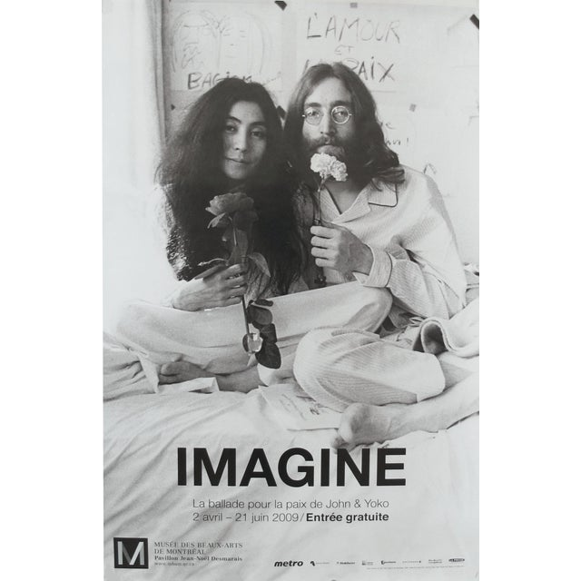 2009 Exhibition Poster Imagine John Lennon And Yoko Ono Bed In For Peace