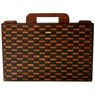 Don Shoemaker Exotic Wood Inlaid Decorative Briefcase for Señal, Circa 1970 For Sale