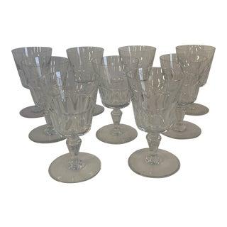 Baccarat Bretagne Goblets - Set of 9 For Sale