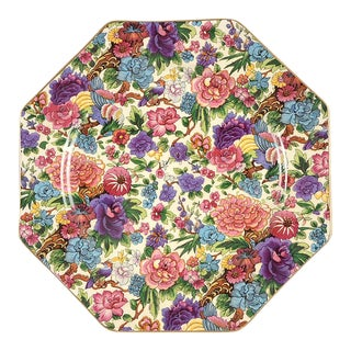 Crown Ducal Purple Chintz Plate For Sale