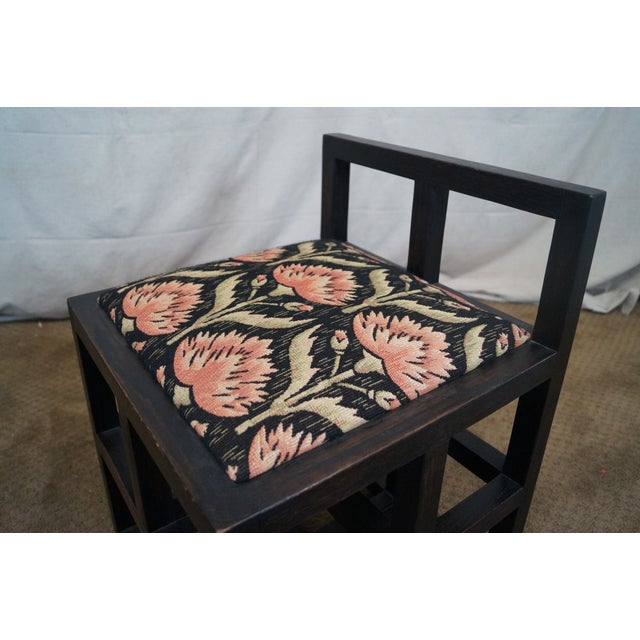 Custom Mission Oak Cube Side Chair - Image 7 of 10