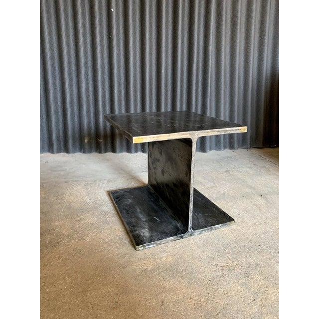 1970s Ward Bennett Steel I Beam Occasional Table For Sale - Image 9 of 9