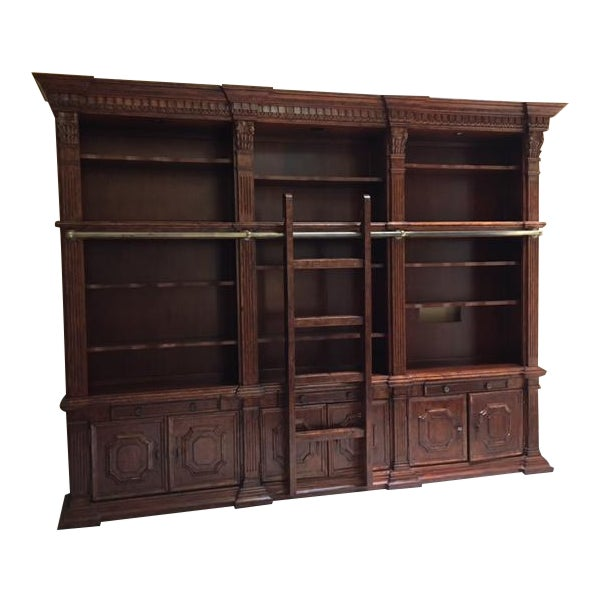 Lighted Library Wall Unit For Sale