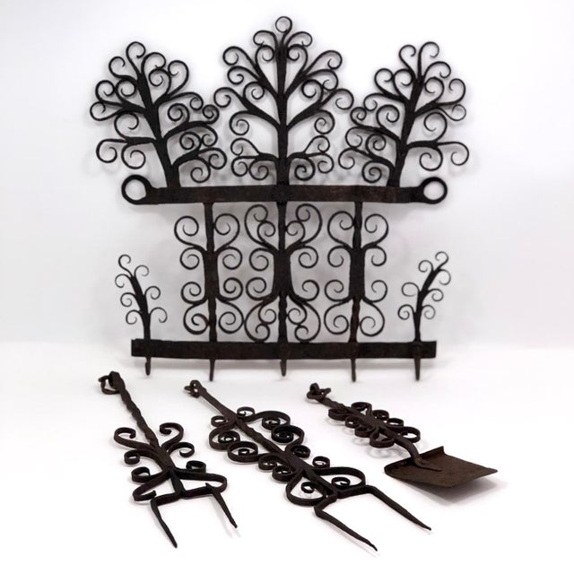 When I first saw this set it, it took my breath away. Hand-forged wrought iron with rivets joining individual pieces on...