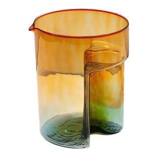 """1970s Sergio Asti Blown Glass """"Break"""" Multicolored Carafe for VeArt For Sale"""