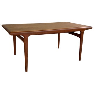 20th Century Danish Modern Niels O Moller Teak Extension Dining Table For Sale