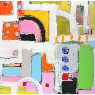 """Contemporary Abstract Sarah Trundle Painting, """"Vroom Vroom"""" For Sale"""