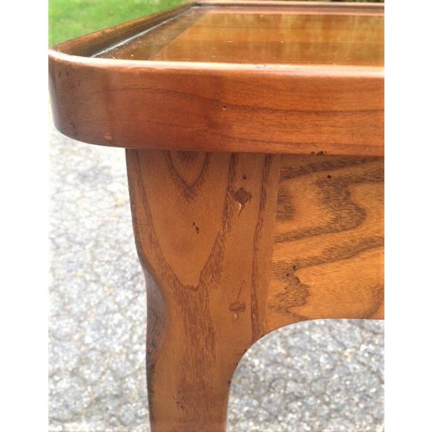 Very nice and interesting French Table a Ecrire , or writing table. This is a copy of the writing table used by the famous...