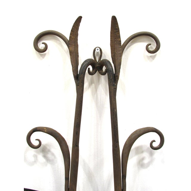 Early 20th Century Wrought Iron and Gilt Garden Wall Hanging For Sale - Image 5 of 11