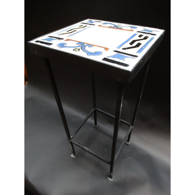 1920s Spanish Revival Malibu Tile Side Table For Sale In Los Angeles - Image 6 of 6