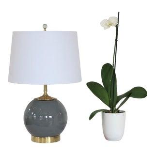 Custom Graphite Gray Glass Lamp by C. Damien Fox 2019 For Sale