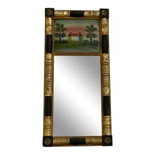 19th Century American Federal Eglomise Trumeau Mirror