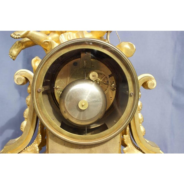 Early 19th Century Antique French Louis XVI Style Figural Clock For Sale - Image 10 of 11