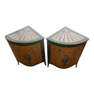 19th Century French Painted Encoignures - a Pair For Sale