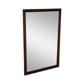 Mid Century Modern Walnut Rectangular Wall Mirror For Sale