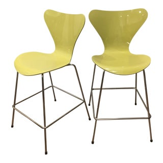 Vintage Arne Jacobsen for Fritz Hansen Denmark 7 Series Counter Chairs - A Pair For Sale
