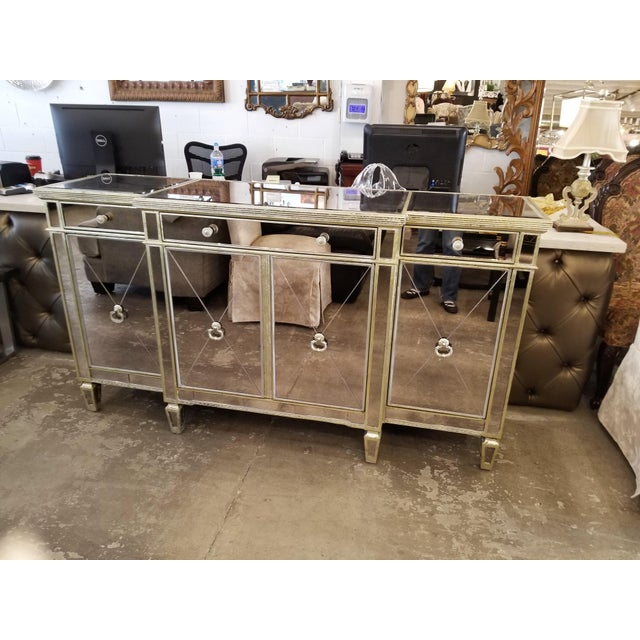 Z-Gallerie Borghese Mirrored Buffet For Sale - Image 10 of 10