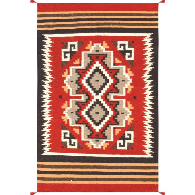 "Navajo Decorative Hand-Woven Rug - 3'1"" X 5'0"" - Image 1 of 3"