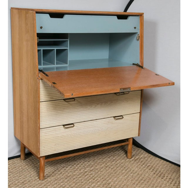 Mid-Century Modern R. Loewy for Mengel Mid-Century Secretary Cabinet For Sale - Image 3 of 8