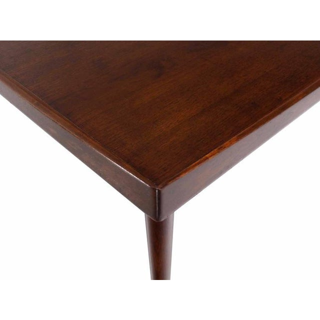 Danish Modern Teak Square Rolled Edge Coffee Table For Sale - Image 6 of 9