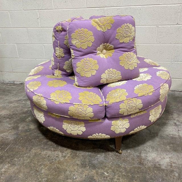 John Boone Custom Upholstered Circular Sofa For Sale - Image 13 of 13