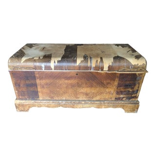 Vintage Roos Chests Solid Wood Trunk For Sale