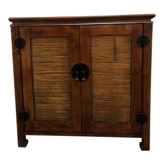 Asian Style Media Cabinet For Sale