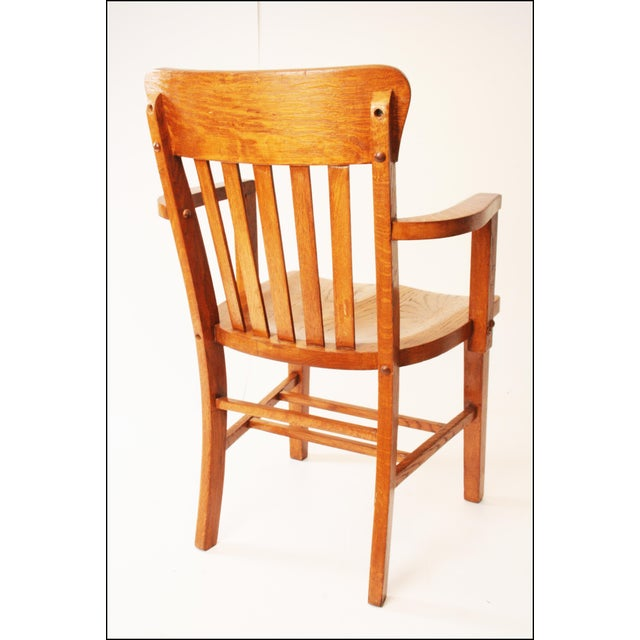 Heywood Wakefield Vintage Wood Banker Chair - Image 3 of 11 - Heywood Wakefield Vintage Wood Banker Chair Chairish