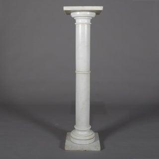 Antique Italian Marble Corinthian Column Sculpture Display Pedestal, Circa 1890 Preview