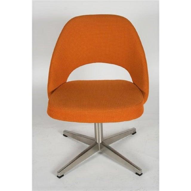 Mid-Century Modern Eero Saarinen for Knoll X-base Swivel Side Chair For Sale - Image 3 of 6