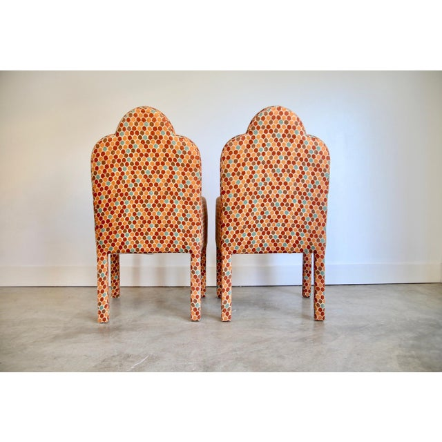 Scalloped Postmodern Armchairs- A Pair For Sale - Image 9 of 13