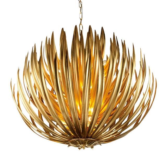 Florentine Antique Gold Leaf Artichoke Light For Sale - Image 4 of 5