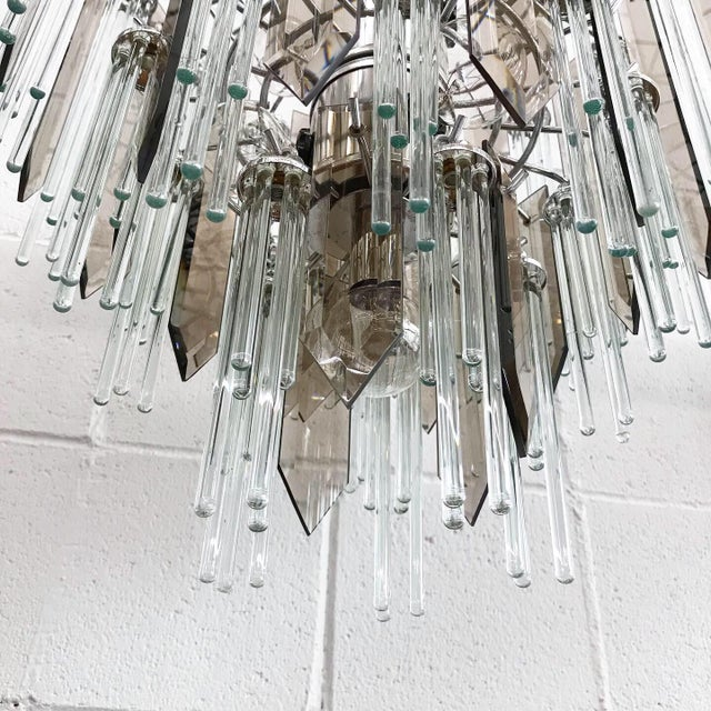 1960s Mid Century Modern Glass Chandelier For Sale - Image 5 of 11