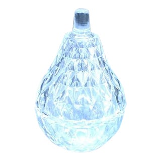 Vintage Crystal Pear Box For Sale