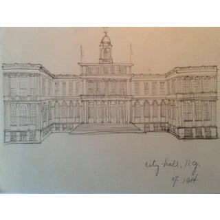Architectural Rendering of City Hall in New York, 1984 For Sale