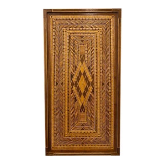 1950s Wooden Inlaid Decorative Panel For Sale