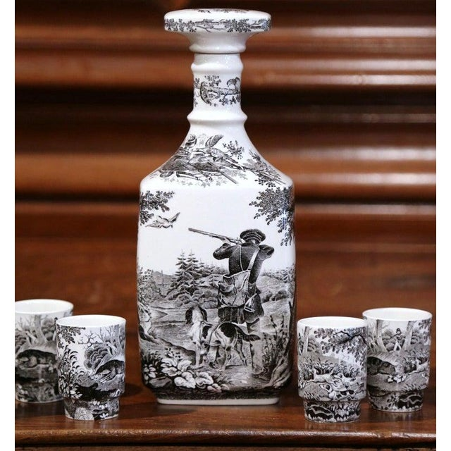 Mid-20th Century German Porcelain Painted Liquor Set From Villeroy & Boch For Sale - Image 9 of 9