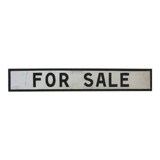 Vintage Black and White Farmstand for Sale Sign For Sale