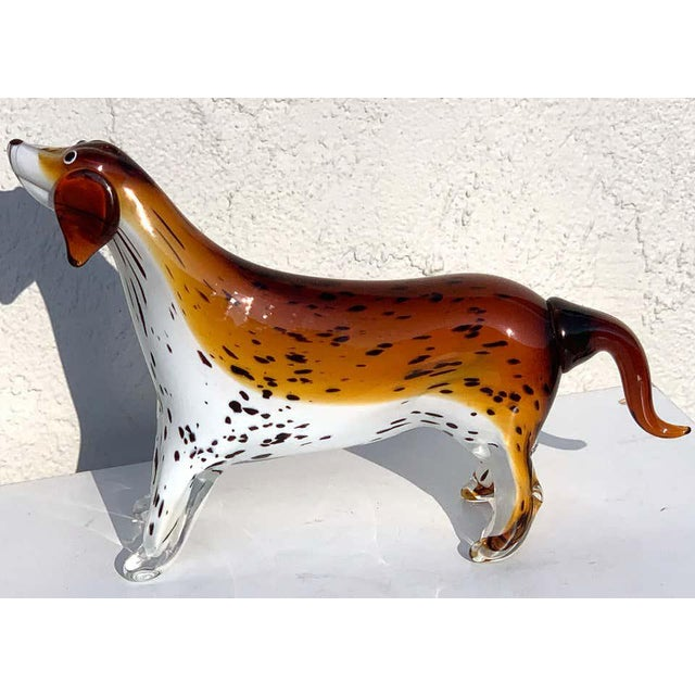Mid-Century Modern Murano Glass Figure of Spotted Dog For Sale - Image 3 of 12